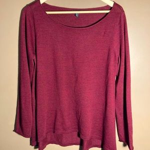 Eileen Fisher merino wool red sweater